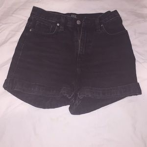 black urban outfitters BDG high-waisted shorts